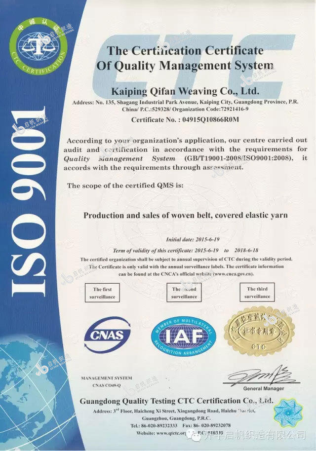 ISO Certificate (English version)